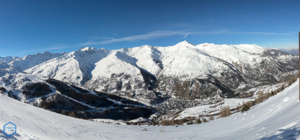 valloire panorama maurienne french alps