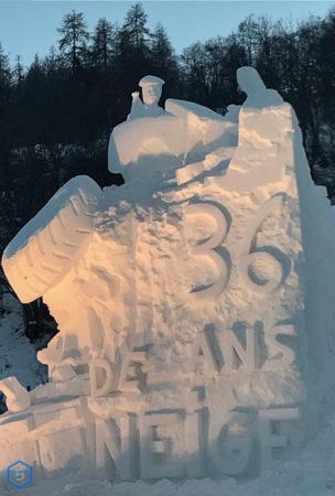 36 ans concours international sculpture valloire snow