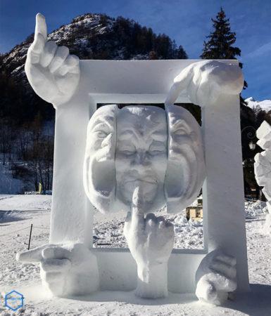 l'indécis sculpture valloire snow
