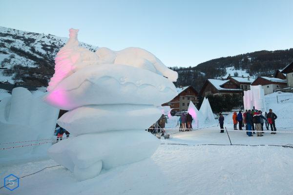 coussin snow sculpture artist neige valloire competition internationale concours 2019