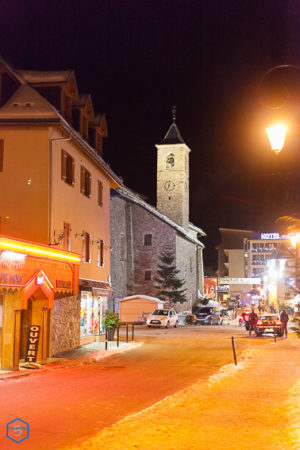 station resort village valloire maurienne savoie france