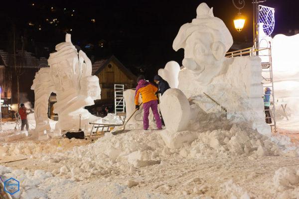 competition internationale sculpture neige valloire artist